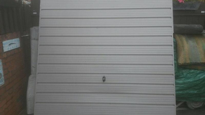 Garage door 7ft wide 6ft6 high good condition for 10 foot high garage door