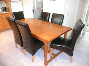 Solid Oak Dining Table 8 Chairs For Sale In UK