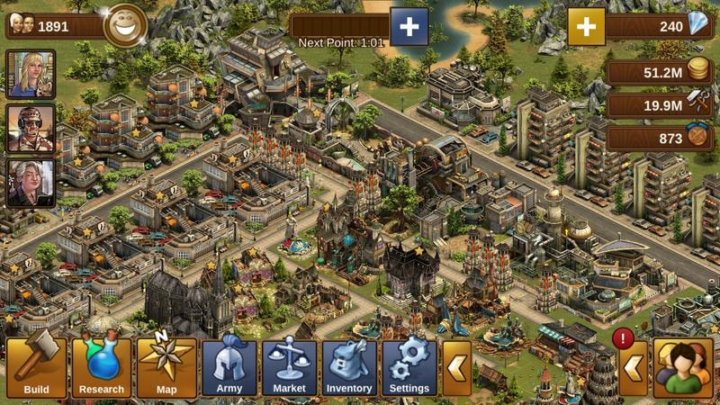 forge of empires foe contemporary era account available