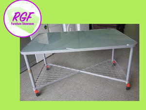 SALE NOW ON!! Glass Top Table / Office Desk On Wheels - Local Delivery £19  in Lancing