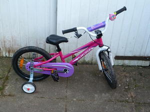 girls pink bike for ages up to 6/7, used for sale  Uckfield