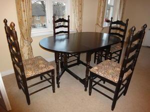 Dark Oak Extending Table For Sale In UK View 58 Ads