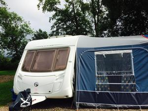 New  470 4 Berth Single Axle Fixed Rear Bed Caravan For Sale Edinburgh