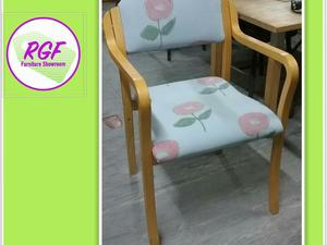 SALE NOW ON!! Set Of 10 Stacking Chairs, Reupholstered In A Light Blue Fabric - Local Delivery £19  in Lancing