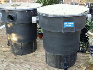 Fish pond in eastbourne sold friday ad for Large pond filtration system