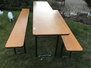 Folding table and bench set  in Brighton