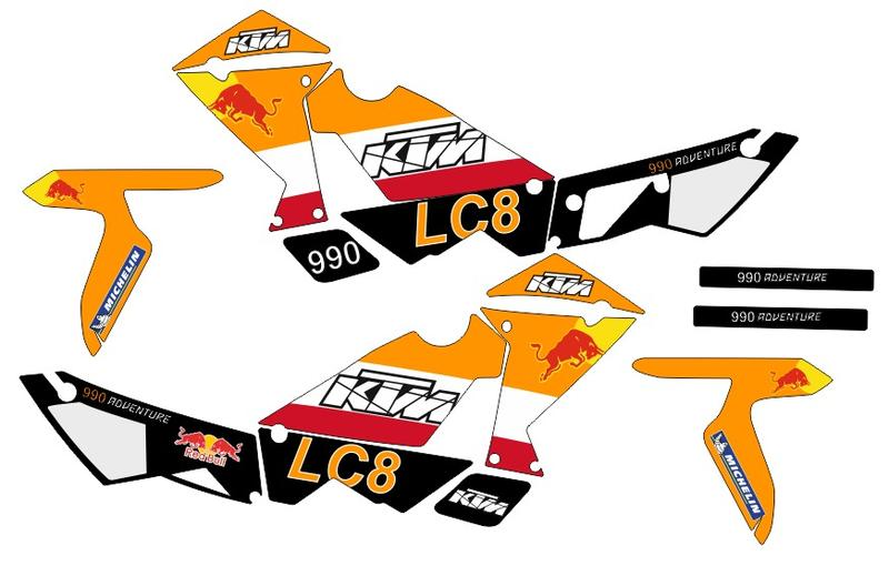 kit ktm 950 and 990 adventure sticker best quality. in london