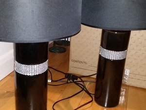 Black and bling table lamps in Shoreham-By-Sea