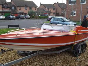 Speedboat dateline bikini 19ft force 150hp p t t in for Plan craft