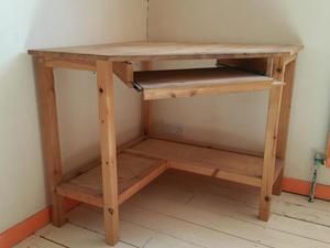 Buy pine corner desk at low prices 58 for sale in the uk for Pine desk ikea