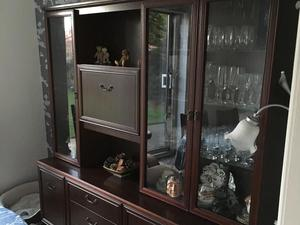 Mahogany Dining Room Display Cabinet In Blackpool