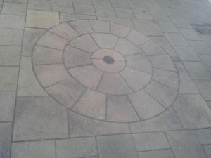 how to form a concrete circle