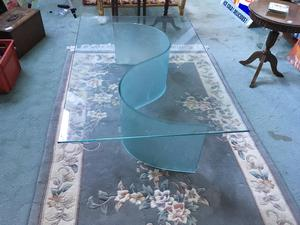 Very unusual tempered glass coffee table made by LIGNE ROSET in Brighton