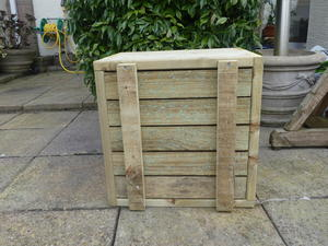 garden planters individually made from pressure treated scandinavian decking 18 square x 15