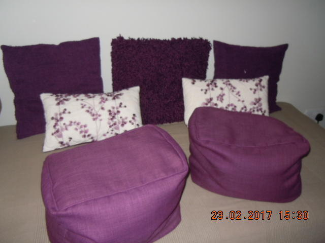 Purple Home D Cor Accessories Package Rug Cushions Lamp