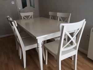 White Dining Table 6 Chairs In Liverpool