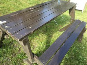 Solid wooden picnic bench .....FREE LOCAL DELIVERY in Brighton