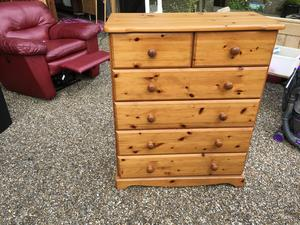 Six draw pine chest of draws ...good condition in Brighton