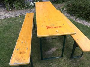 Original German beer Keller garden table and bench set in Brighton