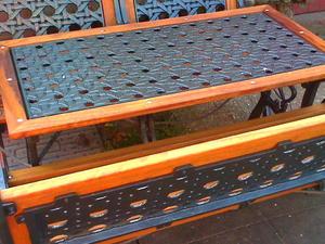 Antique Cast Iron U0026 Hardwood Patio Furniture. In Hassocks