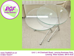 SALE NOW ON!! Nest of 2 Glass Coffee Tables - Local Delivery £19  in Lancing