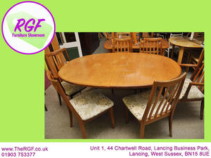 SALE NOW ON Extendable Dining Table 6 Reupholstered Chairs