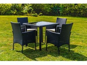 5 piece rattan dining garden furniture set in eastbourne - Garden Furniture Eastbourne