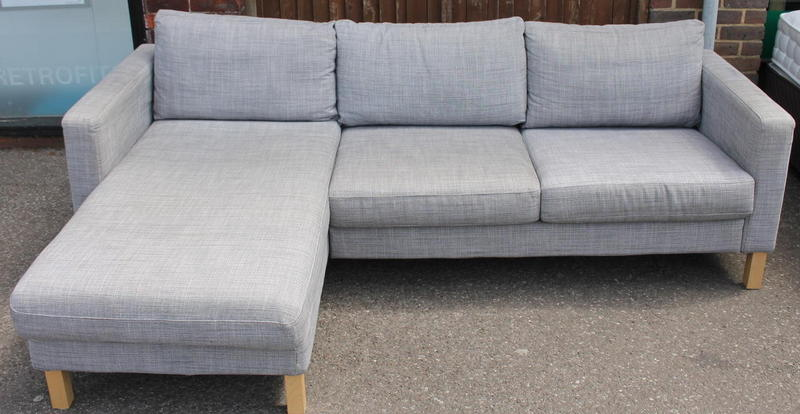 Grey ikea karlstad chaise end sofa in haywards heath for Chaise end sofa uk