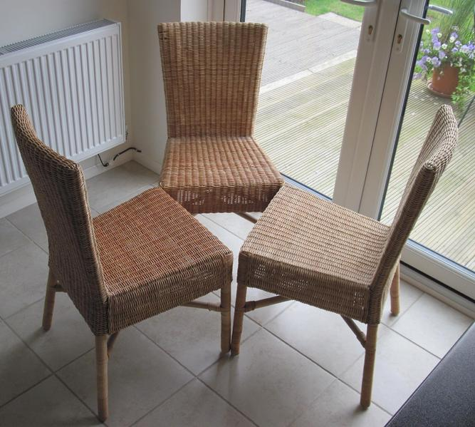 Ikea rattan bamboo dining chairs 3 in uckfield friday ad - Wicker dining chairs ikea ...