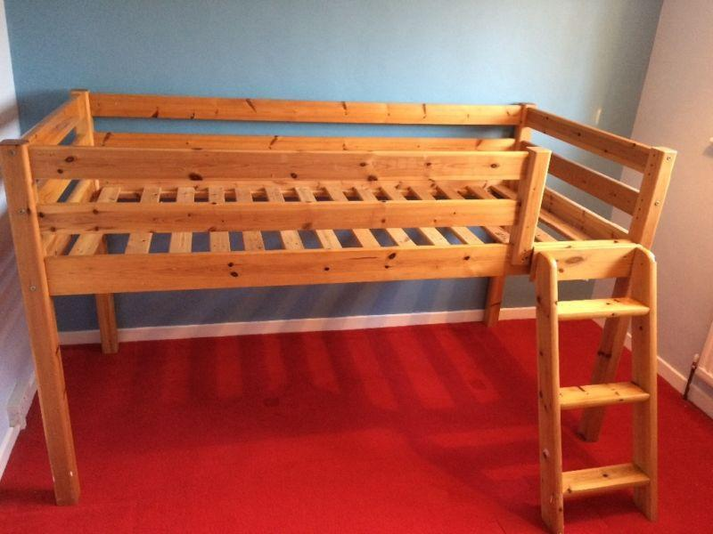 pine mid sleeper with slide den and matching bookcase in steyning expired fridayad