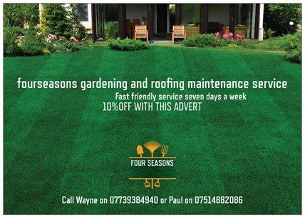 Four Seasons Gardening And Roofing Service   Walsall   Expired | Friday Ad
