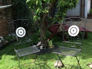 2 Black Metal Patio folding Chairs in Crawley. Second Hand Garden Furniture for Sale   Friday Ad