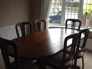 6 Seater Dining Table And Dresser In Stockport