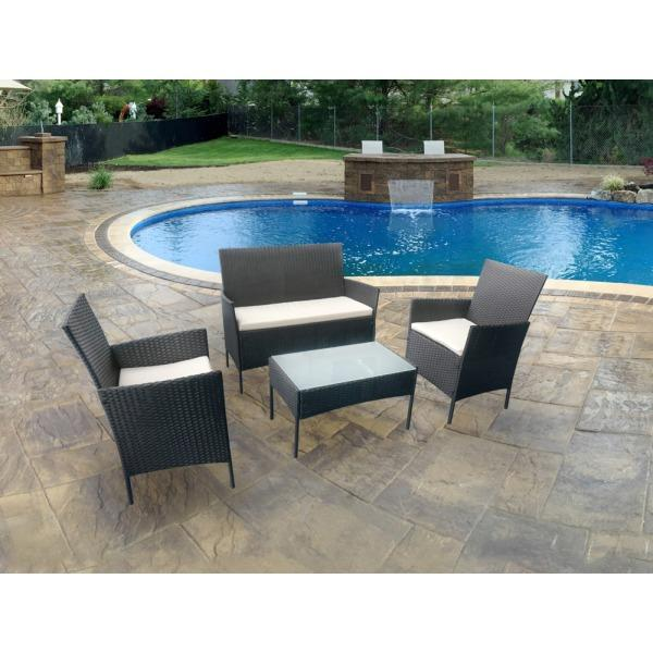Garden Furniture Eastbourne stunning 4 piece rattan garden furniture set in eastbourne