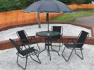 Garden Furniture Eastbourne second hand black kingfisher garden furniture for sale in