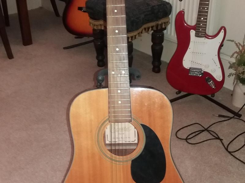 12 String Acoustic Encore New Strings Keep In Tune Great Sound See Description