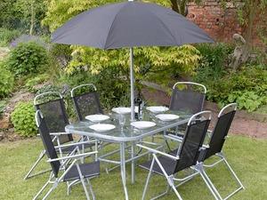 8 piece rectangular garden patio furniture set in eastbourne - Garden Furniture Eastbourne