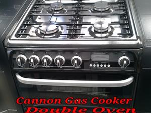 Cannon Gas Cooker 60cm Double Oven Black  in St. Leonards-On-Sea