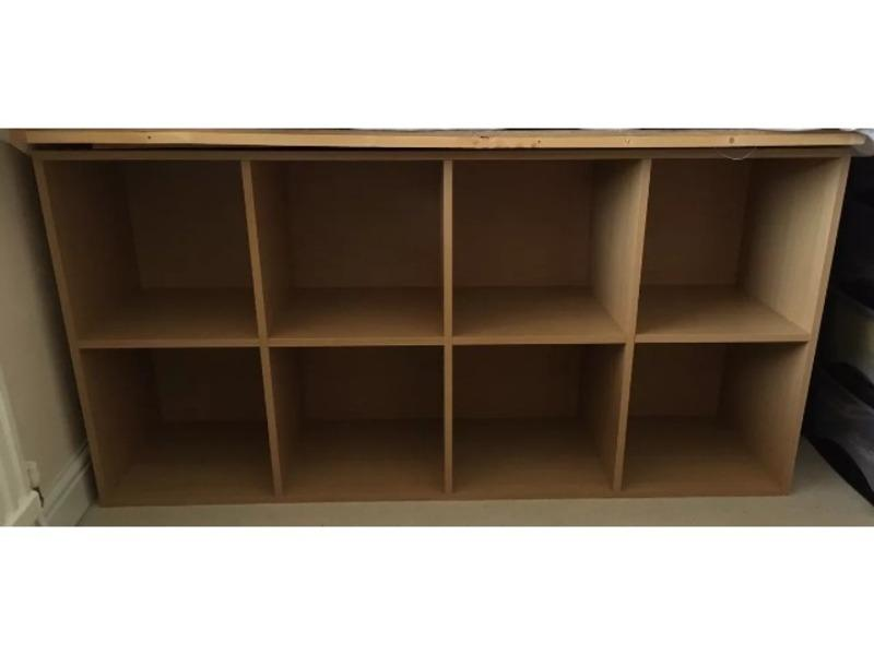 argos phoenix 8 cube storage unit beech effect in. Black Bedroom Furniture Sets. Home Design Ideas