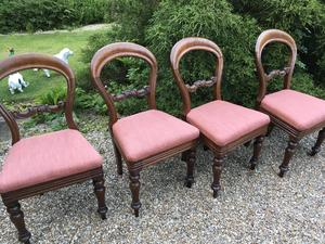SET OF FOUR BALOON BACK CHAIRS  in Brighton