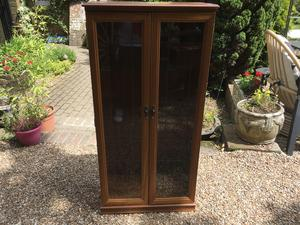 Small display cabinet 60 cms wide x 32 cms deep x 128 cms high in Brighton