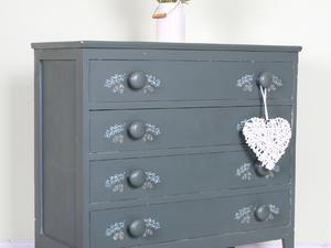 DELIVERY OPTIONS - 4 DRAWER PAINTED CHEST OF DRAWERS CHUNKY HANDLES RUSTIC in Eastbourne