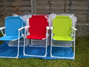 AS NEW 22 Kids Folding Picnic Party Chairs. In Uckfield
