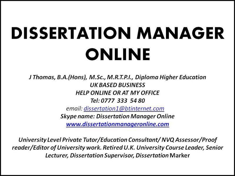 dissertation tutor uk