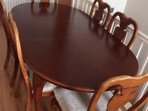 6 Seater Red Wood Dining Table In Gosport