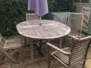 extendable teak garden table in bath - Garden Furniture Yate