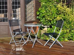 3 piece black bistro patio garden furniture set free local delivery in eastbourne - Garden Furniture Eastbourne