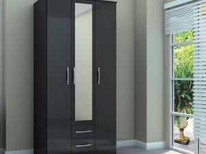 3 Door 2 Drawer Wardrobe Lynx Wardrobes Bargain Sale Price Mirror In The