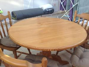 Solid Pine Round Table And Two Chairs In Brighton Expired FridayAd - Solid pine round dining table