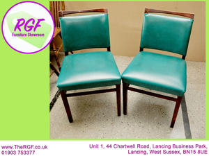 Pair Of Dining Chairs   For Reupholstery   Local De.